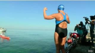 Дайана Найяд в Гаване перед началом заплыва