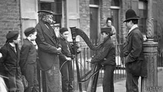 Foto histórica das ruas de Londres. Foto: Getty Images