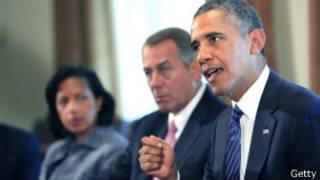 Obama em reunião com congressistas (Getty)