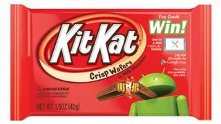 गल के मोबाइल ऑपरेटिंग सिस्टम एंड्रायड का अगले वर्ज़न का नाम नेस्ले की मशहूर चॉकलेट किटकैट के नाम पर होगा.