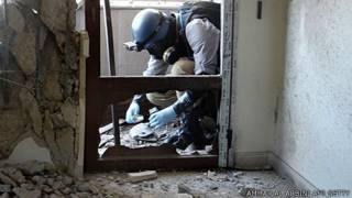 Inspector de la ONU recoge pruebas de supuesto ataque químico en Siria