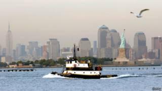 La ciudad de Nueva York vista desde Nueva Yersey