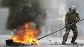 Демонстрация протеста в Чили