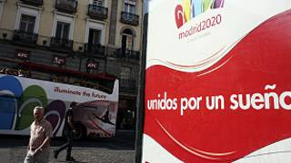 Pancarta de Madrid