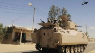 Sojoji na rangadi a yankin Sinai cikin mota mai sulke