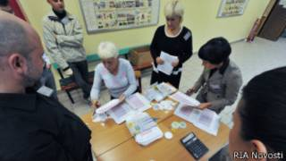 Подсчет голосов на участке № 592 по выборам мэра Москвы 8 сентября 2013 г.