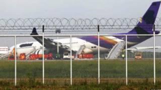 Máy bay Thai Airways gặp nạn