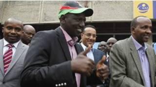Willam Ruto lokacin yana shirin shiga Kotun ICC