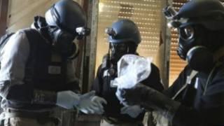 Masu binciken makamai masu guba a Syria