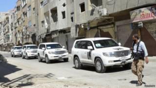Inspetores da ONU visitam Damasco | Foto: Reuters