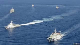 多艘中國海洋局執法船在釣魚島海域巡航(2013年9月10日)