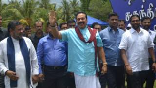 President Rajapaksa in Vavuniya (file photo)