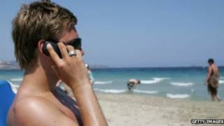 मोबाइल, यूरोप, बीच, फोन, रोमिंग