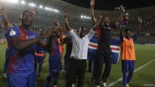 Les joueurs du Cap Vert, en 2013.