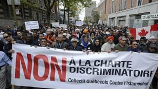 تظاهرات در مونترال کانادا