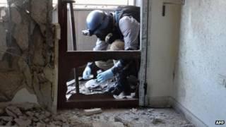 Inspetores da ONU na Síria