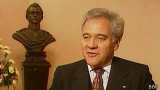 Expresidente de Bolivia, Gonzalo Sanchez de Lozada
