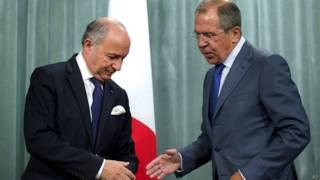 सीरिया, फ्रांस, रूस, विदेशमंत्री, बैठक, सर्गेई लावरोव, लॉरांग फेबियुस
