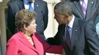 Dilma e Obama no G20 em Moscou (AFP)