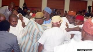 nigeria brawl