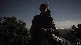 Combatiente rebelde sirio