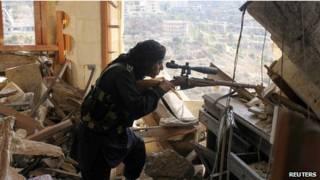 Militante do Exército Livre da Síria (Reuters)