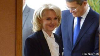 Татьяна Голикова  на заседании Госдумы, гед рассматривается ее кандидатура на пост председателя Счетной палаты.