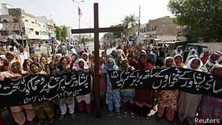 Mujeres en una protesta