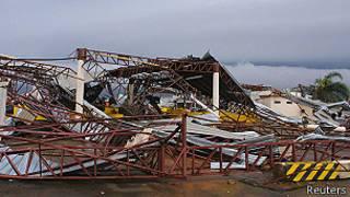 Tornado en Taquarituba, Brasil.