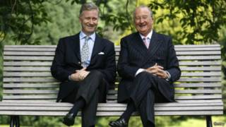 Rei Felipe da Bélgica e seu pai Alberto. Foto: Getty