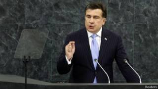 Саакашвили на трибуне ГА ООН