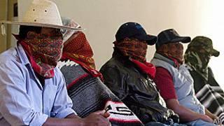 Vigilantes de la comunidad Purepecha de Los Reyes