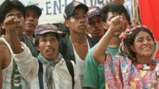 Protesa de indígenas guatemaltecos