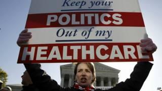 Manifestante pró-Obamacare