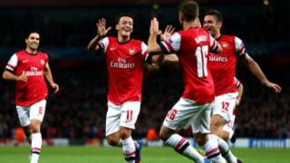 Arsenal wakishangilia ushindi