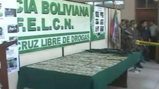 Dinheiro apreendido pela polícia boliviana