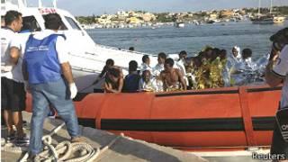 Abimukira bageze ku kirwa cya Lampedusa