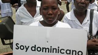 Protesta de dominicanos de origen haitiano