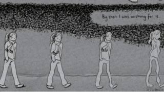Página da história em quadrinhos de Katie Green   Jonathan Cape