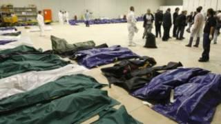 Cadáveres en Lampedusa