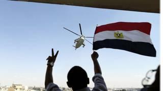 متظاهر يحمل علم مصر