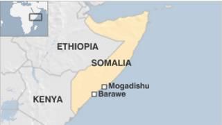 Peta Somalia