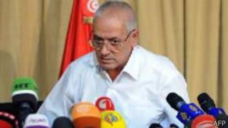 Houcine Abassai le secrétaire général de l'UGTT, le syndicat qui a joué un rôle clef dans les négociations.