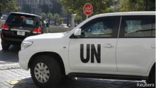 carro da missão da ONU na Síria | Reuters