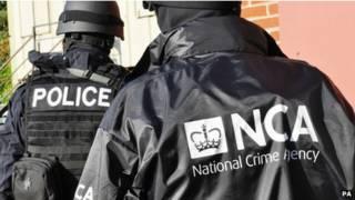 Сотрудники Национального агентства по борьбе с преступностью