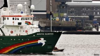 Navio do Greenpeace retido na Rússia (Getty)