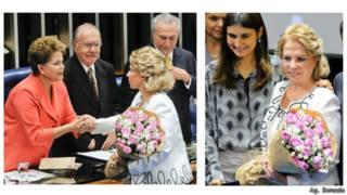 Eunice Michiles, em homenagem recente no Senado com a presidente Dilma Rousseff (Ag. Senado)
