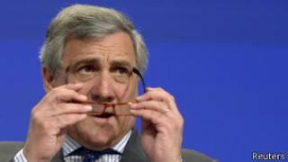 Antonio Tajani, comissário europeu de indústria (foto: Reuters)