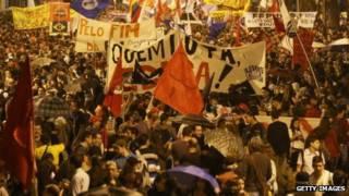 Protesto no Brasil (Getty)