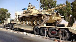 Tanque militar egipcio